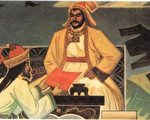 成吉思汗征战归来。蒙古伊儿汗国时期著名史学家拉施特.勿丁所著《史集》中的插图。(公有领域)