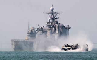 韓國國防部週一(5月16日)對CNN表示,為預防朝鮮金正恩的導彈計劃,韓國、日本和美國將於下月舉行首次聯合反導彈軍事演習。圖為美韓軍演示意圖。(KIM DOO-HO/AFP)