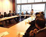 中华真相委员会团队队长、人权社会活动家汤志敏在UNPO大会上演讲。(作者提供)