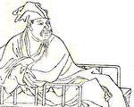 清代《晩笑堂竹莊畫傳》中歐陽修像(公共領域)