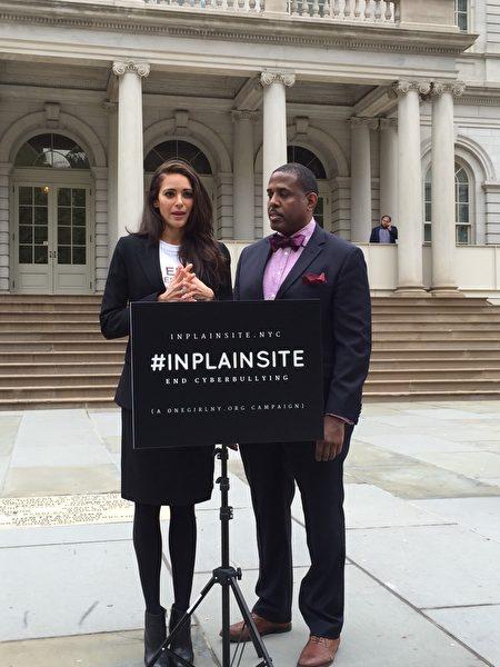 前纽约州美国小姐Meaghan Jarensky呼吁大家重视网路霸凌问题,立法规范。