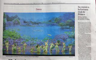 阿根廷日报《LA NACION》5月3日刊登文章,向阿根廷人推荐神韵演出。(大纪元图片)