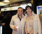 2016年5月8日晚,企業主Mario Eduardo Hilale和太太Valeria Liahaff一起觀看了美國神韻巡迴藝術團今年在阿根廷首都布宜諾斯艾利斯Opera劇院(Teatro Opera Allianz)的第五場演出。(林南/大紀元)