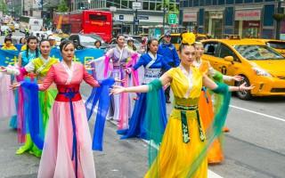纽约万人游行 法轮功学员述心声