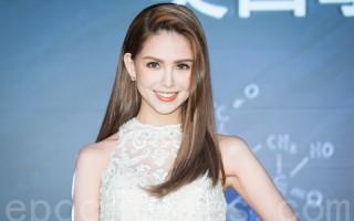 藝人昆凌5月16日在台北出席美妝活動。(陳柏州/大紀元)