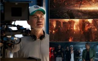《ID4星际重生》释出豪华版预告,图左为导演罗兰‧艾默瑞克,右为剧照与花絮照。(福斯/大纪元合成)