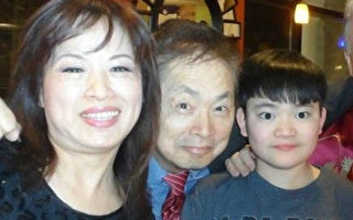馬州華裔美齡、雷森夫婦和他們從中國領養、現已14歲的兒子。(美齡提供)