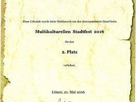 德國呂嫩市文化節 法輪功團體獲獎