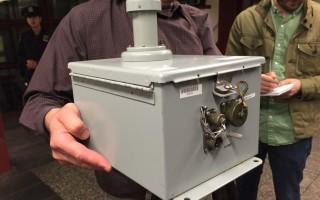 用於檢測地鐵內空氣情況的儀器。 (莊翊晨/大紀元)