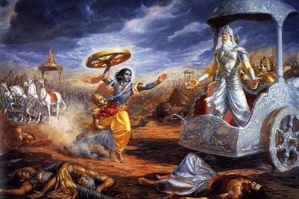 格查蓝‧达斯的《做好人之难》探索人类的困难和当代社会的困境。该书从印度史诗《摩诃婆罗多》 吸取了诸多智慧。图为摩诃婆罗多中的战争景像。(网络图片)