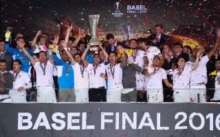 西甲劲旅塞维利亚3-1逆转利物浦,连续三个赛季夺得欧联杯冠军。 (David Ramos/Getty Images)