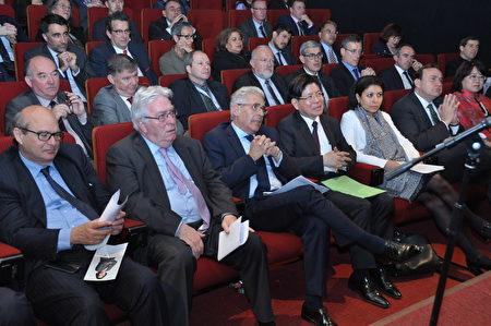 法国各界贵宾出席庆典会。(台湾代表处提供)