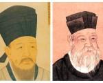 宋朝的著名理學學者程顥(左)和朱熹的畫像(大紀元合成圖)