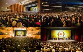 4月30日,以复兴中华文化、展现经典中国舞而著名的神韵纽约艺术团结束了2016年巡演大洛杉矶地区的演出。神韵在世界影视之都洛杉矶及周边城市演出21天31场(原订28场增加3场,再加座4千),创下场场爆满、其中28场售罄一票难求的票房纪录,共有7万多名美西观众欣赏了神韵的风采。(季媛/大纪元)