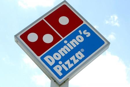 達美樂披薩店標誌。 ( Joe Raedle/Getty Images)