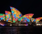 2016活力悉尼燈光音樂節之悉尼歌劇院。(燕楠/大紀元)