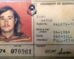 前聯邦財政廳長兼布里斯本Lilley選區國會議員斯萬(Wayne Swan)上傳了一張自己1974年就讀於昆士蘭大學時的學生證照片。(臉書照片)