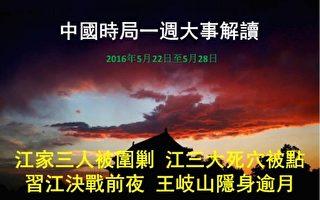 一週大事解讀:圍剿江家族 江三大死穴被點