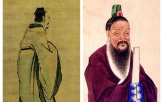 周灭商之后,周武王将朝鲜半岛分封给箕子。图为周武王和箕子的画像。右为箕子。(大纪元合成图)