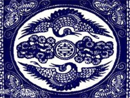 """给老人贺寿的""""松鹤延年""""的图案。(网络图片)"""