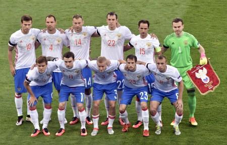 俄羅斯隊的陣容。 (AFP)