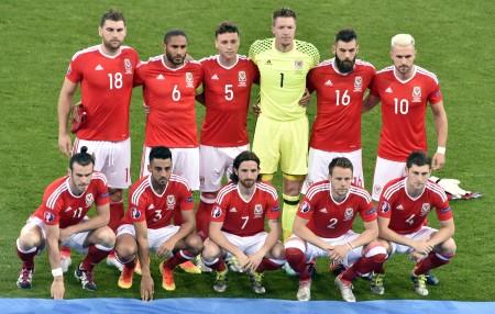 威爾斯隊的陣容。(AFP)