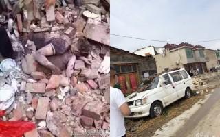 江蘇阜寧縣遭遇龍卷風重創,死亡人數上升至98人,逾800受傷。(合成圖片)