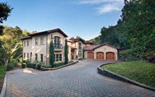 洛斯阿托斯山(Los Altos Hills)一处上市的庄园式地产。(德立昂地产提供)
