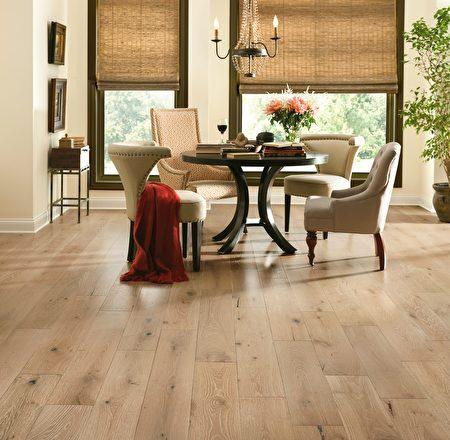 阿姆斯壯實木地板,藝術刷面木地板系列。(Armstrong提供)