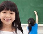 happy asian student girls at school classroom