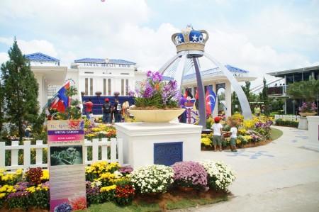 """马来西亚年度花卉盛会""""2016年布城皇家花卉园艺节""""在布城第四区隆重举行。图为柔佛州皇家花园。 (杨晓慧/大纪元)"""
