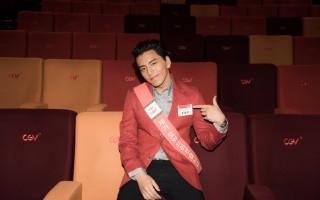 此次韩国行,王大陆共上了5个通告加16场映后会,行程爆满。(王大陆工作室提供)