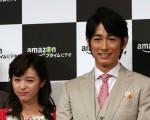 日本戏剧《快乐婚礼》宣传活动资料照。图为藤冈靛、清野菜名。(大纪元资料室)