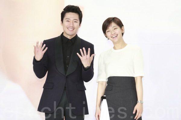 韩国KBS新月火迷你连续剧《 美丽心灵》 《Beautiful Mind》)于6月14日下午在首尔永登浦区举行制作发布会。图为张赫、朴素丹。(全景林/大纪元)