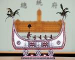 """中华民国总统蔡英文6月24日将于出访中南美洲,赠送邦交国的3件伴手礼22日亮相,""""雅美族的拼板舟""""将致赠巴拿马总统。(中央社)"""