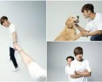 S.F.C(罗志祥国际歌迷会)成立至今第9年,罗志祥带着母亲与狗狗一起入镜,邀请歌迷们也与家人一同牵手拍照。(天地合/大纪元合成)