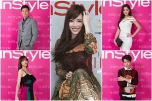 温昇豪(左上)、赖琳恩(左下)、林苇茹(右上)、胡宇威(右下)等知名艺人于本月受邀出席《InStyle时尚乐》国际中文版(中)创刊酒会。(STARFiSH/大纪元合成)