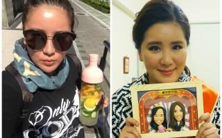 台灣藝人小禎(胡盈禎)瘦身前(右)後(左)對比照。(臉書、緯來綜合台/大紀元合成)