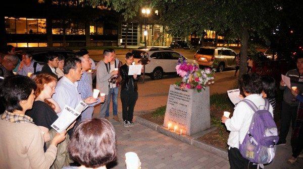 六四27周年波城悼念 「不忘記,不原諒」