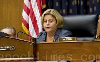 共和党议员罗斯-雷婷恩是343号议案提出者。她在新闻发布稿中说,中共一直在对法轮功学员和其他良心犯延续著也许是最可怕和最令人震惊的人权侵犯。(大纪元)