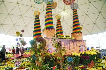 """马来西亚年度花卉盛会""""2016年布城皇家花卉园艺节""""在布城第四区隆重举行。图为菊花园。(杨晓慧/大纪元)"""