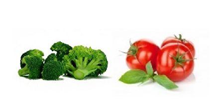 西蘭花和番茄是抗癌的黃金搭檔。根據研究,飲食中含10%番茄和10%椰菜,腫瘤縮減52%;若只有西蘭花,腫瘤減少42%;而只含西紅柿,腫瘤則減了34%。(Fotolia)