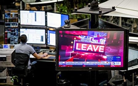 英国脱欧公投6月24日公布,过半数同意脱欧,此为欧盟会员国首度决定脱离。 (AFP)