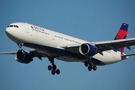 一名美国男子搭乘达美航空公司一趟班机,独享全机所有座位。图为达美班机示意图。(维基百科公有领域)