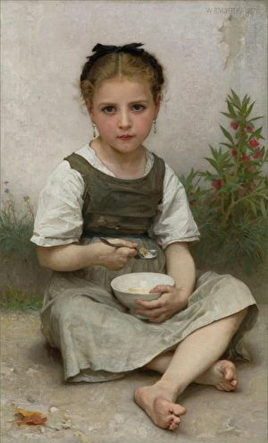 [法]威廉‧布格罗(William Bouguereau),《早餐》(Dejeuner Du Matin),布面油画,1887年作,91.5×55.9cm,私人收藏。(Courtesy of ARC)
