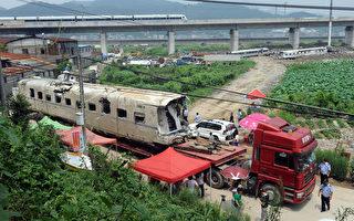 在2011年,两辆动车在温州相撞,导致40人死亡,引发外界对中国列车的质量和安全的怀疑。(STR/AFP/Getty Images)