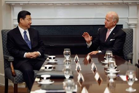 拜登与习近平有过长时间的接触。习近平2012年以副主席的身份访问美国时正是拜登接待。Getty Images)