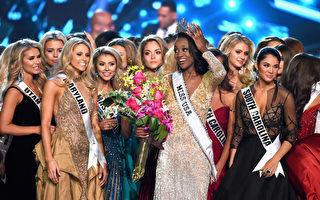 2016年美國小姐選美當地時間週日(5日)晚在內華達州「拉斯維加斯」舉行,來自「華府」特區的26歲佳麗巴伯贏得后冠。 (Photo by Ethan Miller/Getty Images)