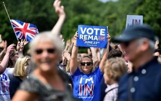 英脱欧公投恢复造势 留欧阵营声势上扬