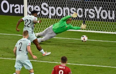 2016年6月26日,欧洲杯八强赛第六场比利时对匈牙利,以4:0晋级八强。(PASCAL PAVANI/AFP/Getty Images)